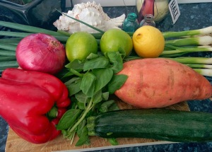 Chilli Frittata ingredients 2