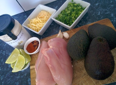 Stuffed avocados ingredients