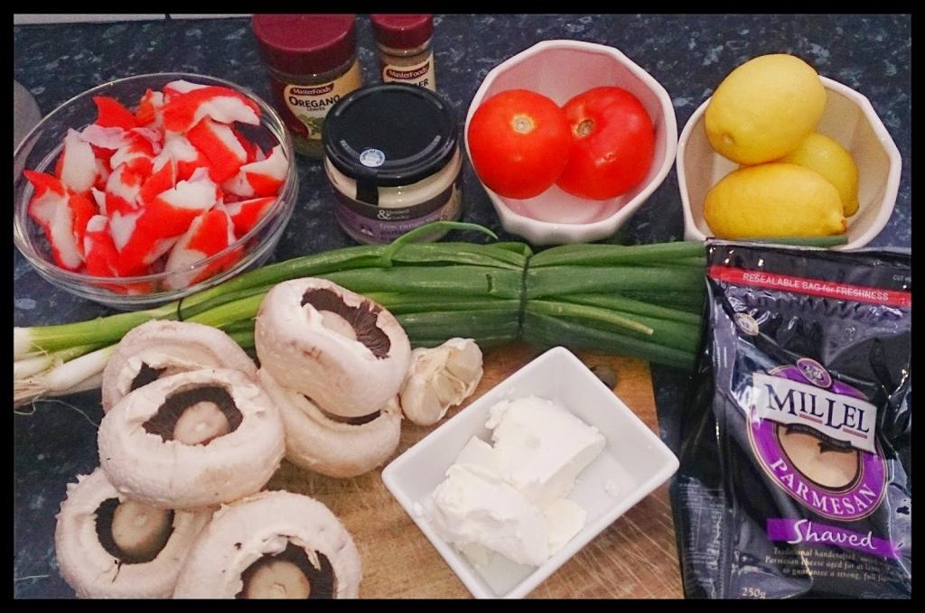 stuffed crab mushrooms recipe