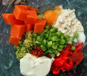 Chilli Frittata ingredients 1