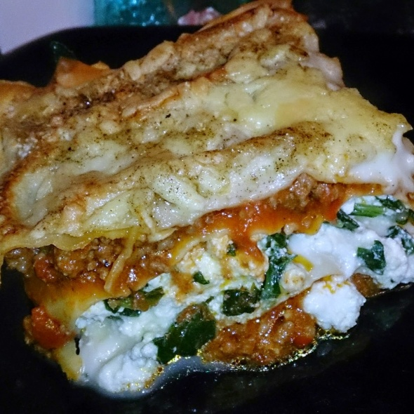 beef spinach and ricotta lasagna