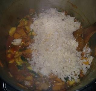 moroccan inspired cauliflower rice